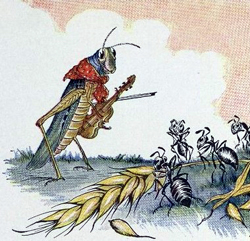 Aesops Ant and the Grasshopper